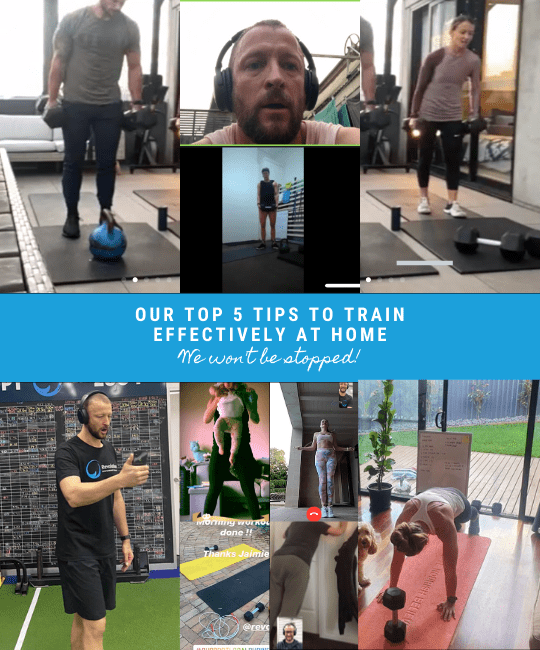 Our top 5 tips to train effectively at home